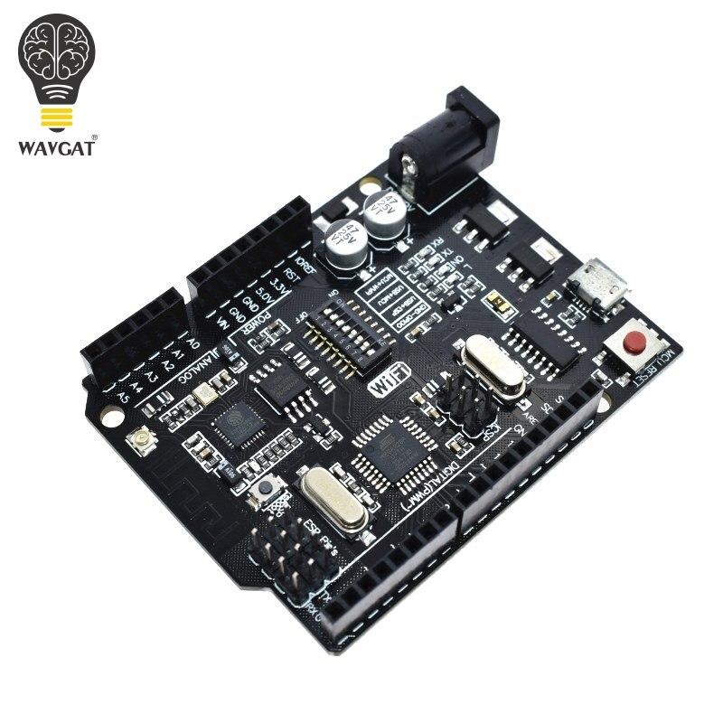 WAVGAT UNO R3 + WiFi ATmega328P+ESP8266 (32Mb memory) USB-TTL CH340G For Arduino Uno NodeMCU WeMos ESP8266 One New ArrivalWAVGAT UNO R3 + WiFi ATmega328P+ESP8266 (32Mb memory) USB-TTL CH340G For Arduino Uno NodeMCU WeMos ESP8266 One New Arrival