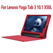 """Cubierta de lujo para lenovo yoga tablet 3 10.1 caso, pu del tirón del cuero cubierta para lenovo yoga tab 3×50 x50l yt3-x50f ytx-50m 10.1 """"pulgadas"""