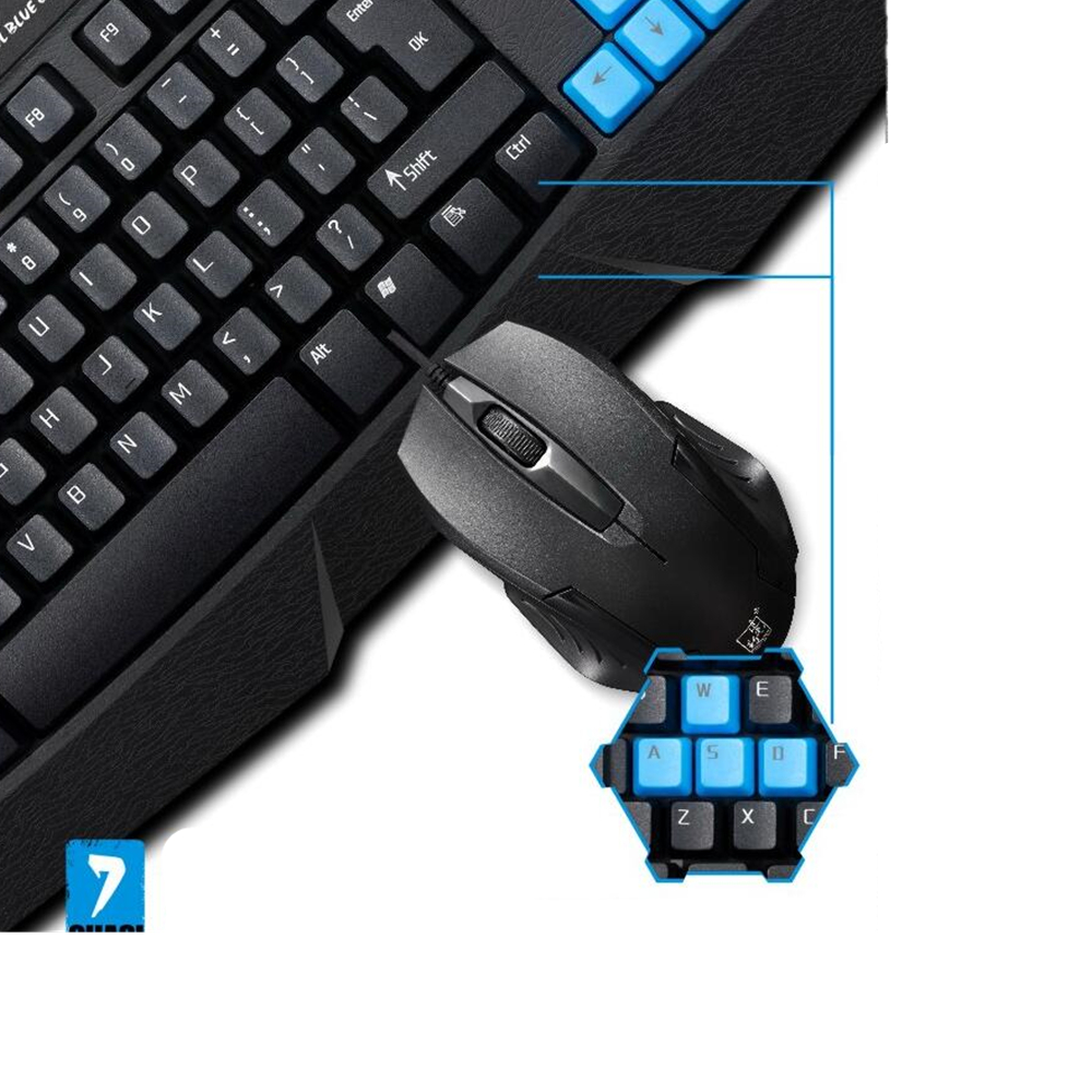 100% Original Gaming Keyboard Suit USB Wired Keyboard Mouse combos for Desktop Computer PC Mouse Set for women men adults