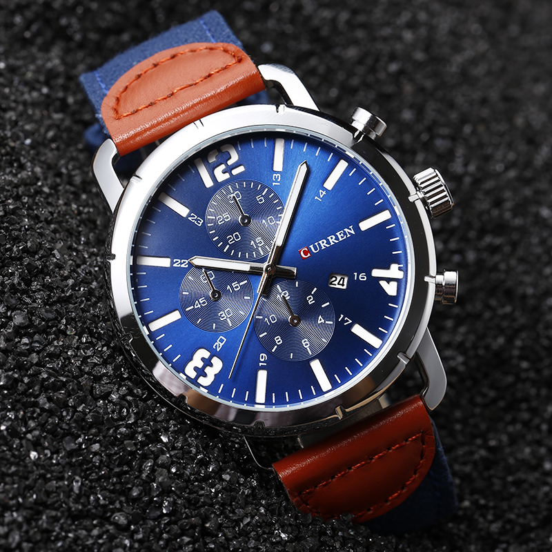 Curren 8194 Luxury Brand Men Business Watches Fashion Casual Watches Quartz Clock Military Watches Male Wristwatches Hot Sale