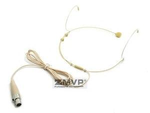 Image 4 - 3 sztuk zestaw słuchawkowy Headworn profesjonalny mikrofon pojemnościowy Mini 3pin XLR TA3F wtyczka Mic Mike dla Shure bezprzewodowy nadajnik Bodypack