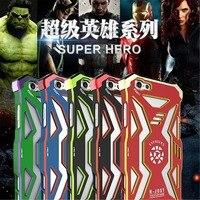 I6/I6S Avengers Super Hero Iron Man Lotniczego Stopu Aluminium + Polimerowego Materiału Pokrywy Skrzynka dla IPhone 6 6 S Darmowa Wysyłka