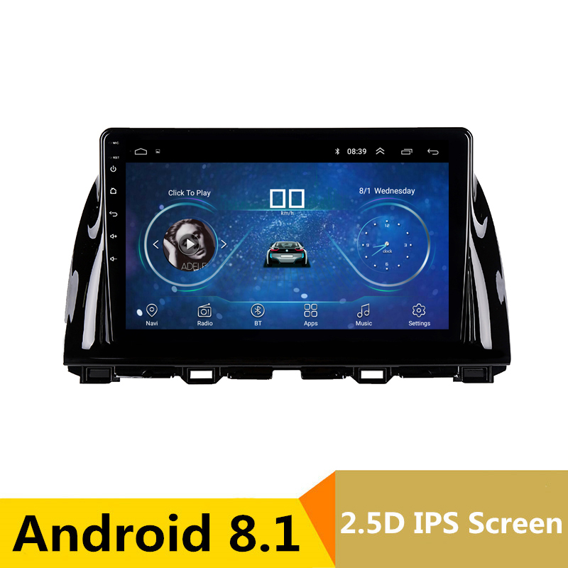 10.1 Android 8.1 Car DVD GPS for Mazda 6 Atenza CX-5 CX5 2012 2013 2014 2015 audio car radio stereo navigation bluetooth wifi rom 16g 2 din android car dvd for mazda cx 5 2012 2013 2014 navigation radio audio gps ipod bluetooth russian menu