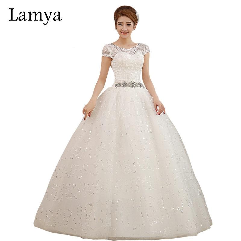 لمياء فساتين الزفاف الحوامل كريستال الزنانير العاج تول العروس ثوب الطابق طول الزواج الدانتيل احتياطي مخصص
