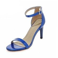 Concise Sexy Knöchelriemen Frauen Sandalen Mode Offene spitze Schuhe der Frau High Heels Schuhe Elegant Sommer Sandalen 4 Farben 33-43