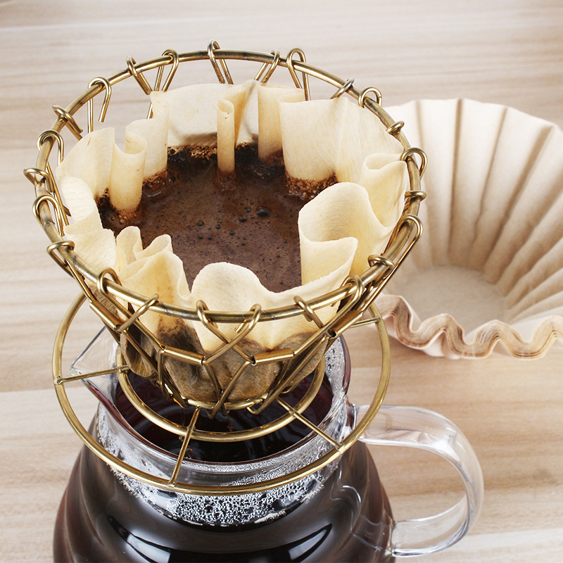 Держатель фильтра для кофе складной из нержавеющей стали конус кофе капельница безбумажный постоянный залить Кофе Чай фильтр корзина инст...