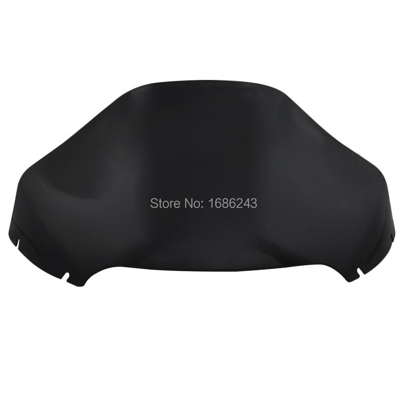 Dark Black Motorcycle PVC 13 38 Wave Windshield Windscreen Fits For Harley Road Glide FLTR FLTRX