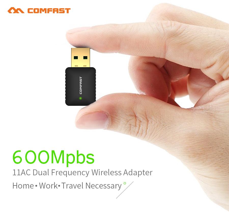 Image 4 - Long Range Dual Band 2.4G 5g Wireless usb wifi adapter 600/1300mbps 802.11ac/b/g/n wifi usb USB3.0 wi fi dongle usb network card-in Network Cards from Computer & Office