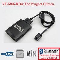 Yatour adapter car audio mp3 dla peugeot 207 307 308 407 607 807 1007 3008 5008