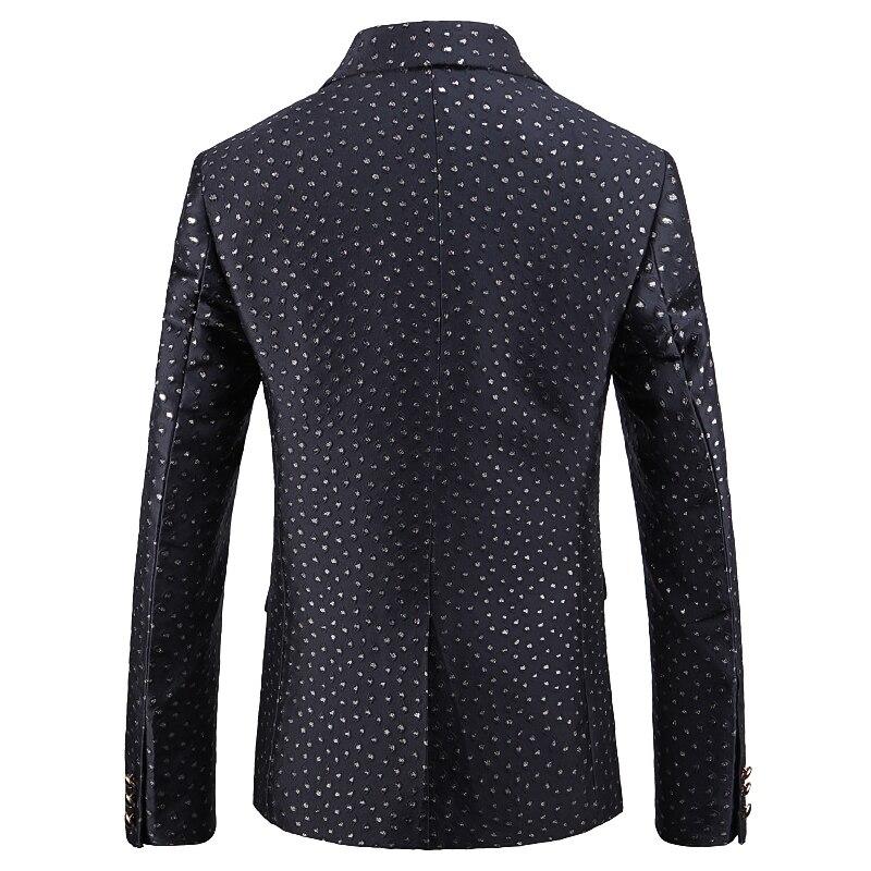 Luxury Business Black Flower Blazer Point Jacquard Men Casual 2019 Autumn Blazer Hombre Suit Jacket Men Plus Size 5xl 4xl - 3