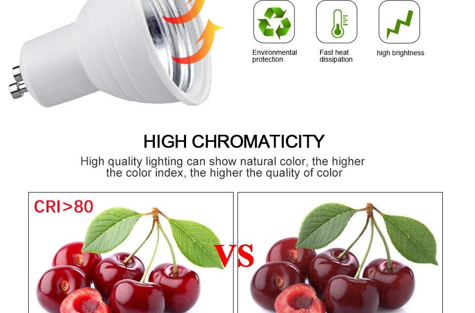 GU5.3 GU10 MR16 220V Lampada LED Spotlight 4W 5W 6W 7W 8W LED Lamp Light LED Bulb Table Downlight Ceiling Light Warm White Lamp (3)