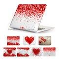 """Presentes românticos corações vermelhos Caso Capa Para 13 15 """"Macbook Pro Com Retina Air 11.6 12 13.3 polegada laptop manga"""