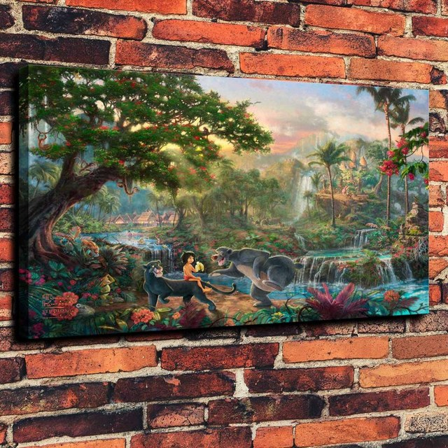 Image - Kinkade-Wallpaper-The-Jungle-Book-Thomas-Kinkade-STUDIOS ...