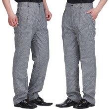 Летние продукты питания осенние брюки для повара рабочие брюки клетчатые черно-белые брюки шеф-повара унисекс мужские брюки