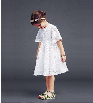 2018 Girls lace dress , girl dresses, children dress,5pcs/lot XFM02