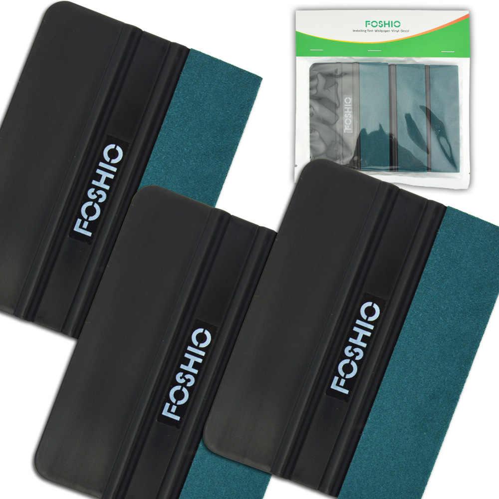 FOSHIO 3 stücke Carbon Faser Vinyl Rakel Auto Werkzeuge Kein Kratzer Wildleder Filz Verpackung Schaber Aufkleber Film Wrap Auto Fenster tönung Werkzeug