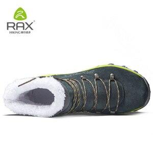 Image 3 - RAX hommes bottes de randonnée en cuir véritable chaussures hiver randonnée bottes pour hommes en plein air chaud randonnée chaussures baskets chaussures de marche homme