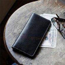 Изделия из кожи ручной работы кожа ручной работы DIY бизнес бумажник рисунки CCD-47 мульти-карты длинные на заколке версия не настоящий кошелек