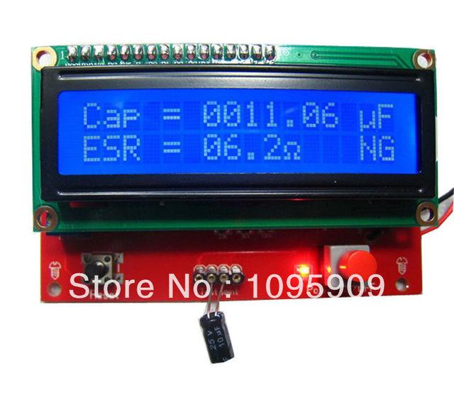 digital led capacitor esr tester capacitance equivalent seriesdigital led capacitor esr tester capacitance equivalent series resistance meter free shipping