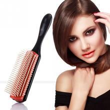 Cepillo de paja de trigo para peluquería, peine de pelo rizado liso, herramientas de estilismo