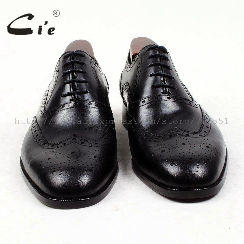 Cie جولة تو كاملة تصليحه مفصل مخصص اليدوية الصرفة العجل جلد طبيعي الرجال اللباس أكسفورد جلد الحذاء OX423 لاصقة الحرفية-في أحذية رسمية من أحذية على  مجموعة 3