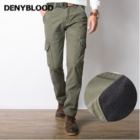 Denyblood 2017 New Winter Men S Casual Pants Baggy Pants Thick Solid Straight Jeans