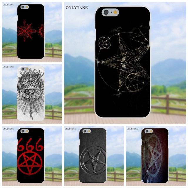 Soft Tpu Mobile Cases Covers Satanic Symbol For Apple Iphone X 4 4s