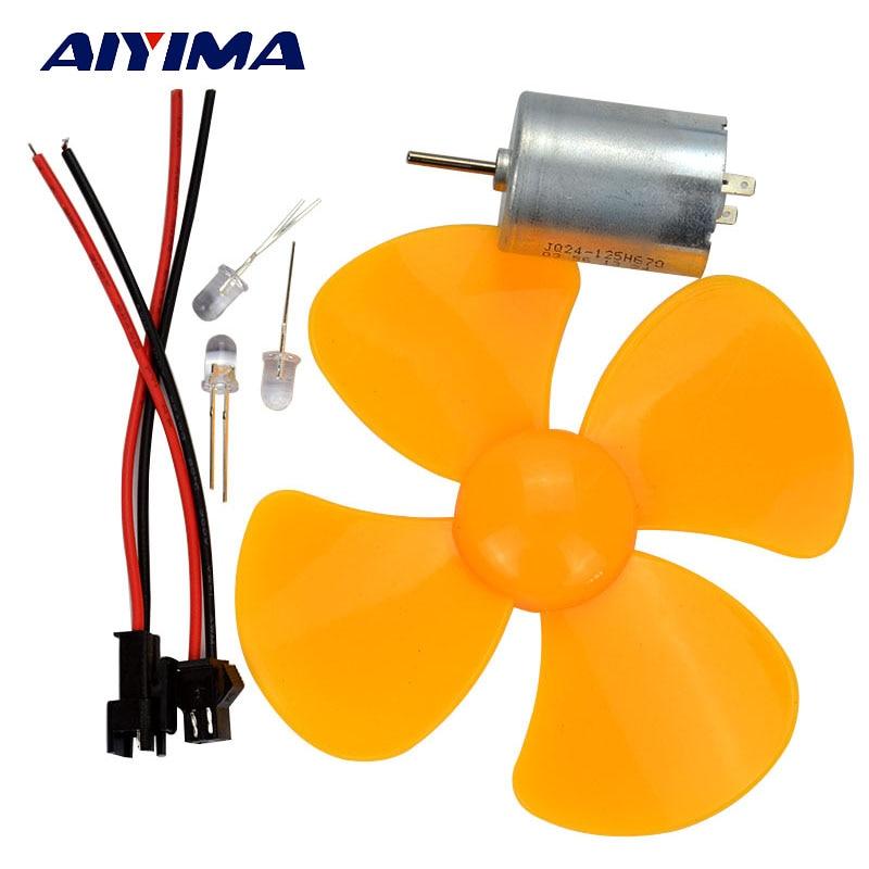 AIYIMA 1 juego usado Mini generador de turbina de viento cargador DC 5 V salida USB para la carga del teléfono móvil motor usado