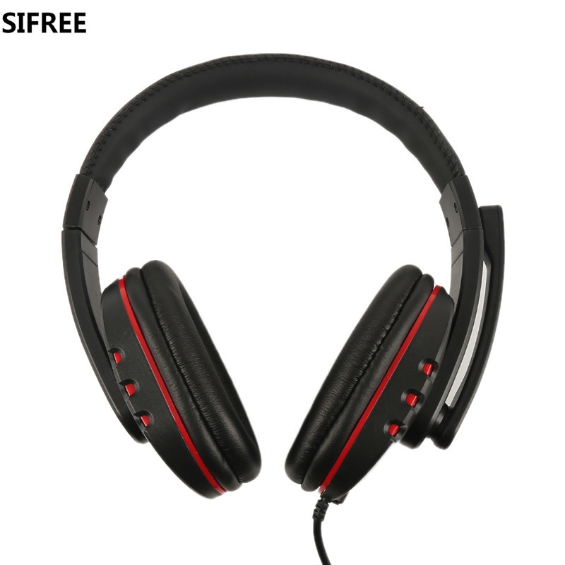 SIFREE  Game Headphone Wired Stereo Surrounded Gaming Headset Headband Earphone  for music Computer PC Gamer with Mic  plextone pc780 led light gaming headphone usb game headset pc headphone with mic for computer subwoofer stereo wired earphone