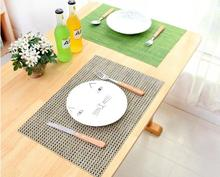 1PC European style PVC thermal insulation mat waterproof anti slip western placemat 45x30cm LF 091