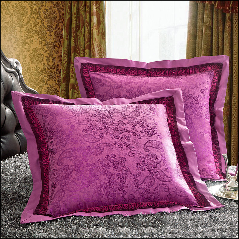 European Cushion cover Luxurious Embroidered Cushion Covers Floral Tribute satin Pillow Case Sofa Decortion coves Homealmofadas