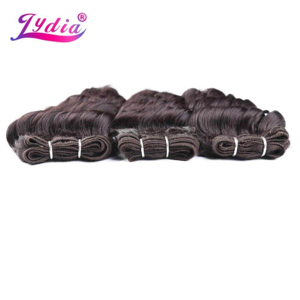 Lydia Syntetiska Hårförlängningar 14-18inch Deep Wave Hair 3st / - Syntetiskt hår - Foto 2