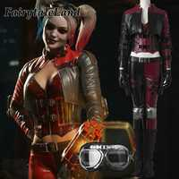 Injustice 2 Harley Quinn Cosplay Costume Custom made Halloween costumes Fancy costume Injustice League Harley Quinn costume suit