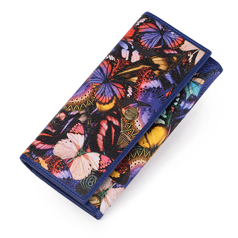 Female Wallet Genuine Leather Wallets Women Coin Purse Colorful Clutch Female Purse Handy Bag Luxury Perse Card Holder