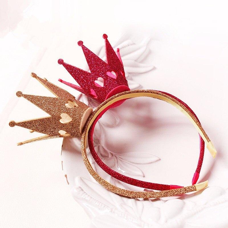 9fdfb8d29dd 240pcs lot Baby Girl Birthday Glitter Crown With Glitter plastic headband