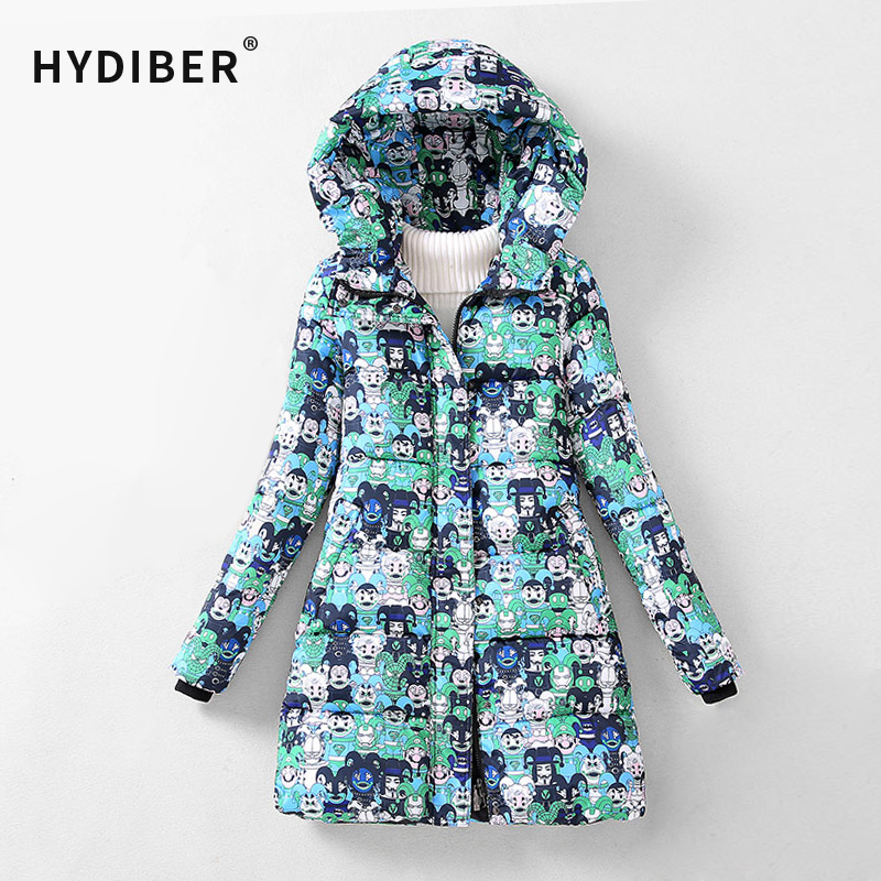 ФОТО 2016 Winter Coat Women Jacket Long Parkas Camouflage Print Hooded Cotton Padded Coat Camo Jackets Wadded Warm Coats Tops