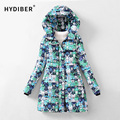 2016 Winter Coat Women Jacket Long Parkas Camouflage Print Hooded Cotton Padded Coat Camo Jackets Wadded Warm Coats Tops