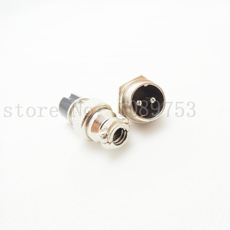 50sets Aviation Plug GX16 16mm 2Pin Male and Female Panel Metal Socket Connector 1set lot gx16 2 pin male