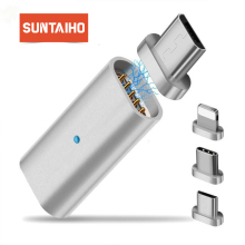 Suntaiho LED Magnetic USB Cable Magnet Plug & USB Type C Cable & Micro USB Cable & USB Cable for Samsung Xiaomi Huawei Phone XS
