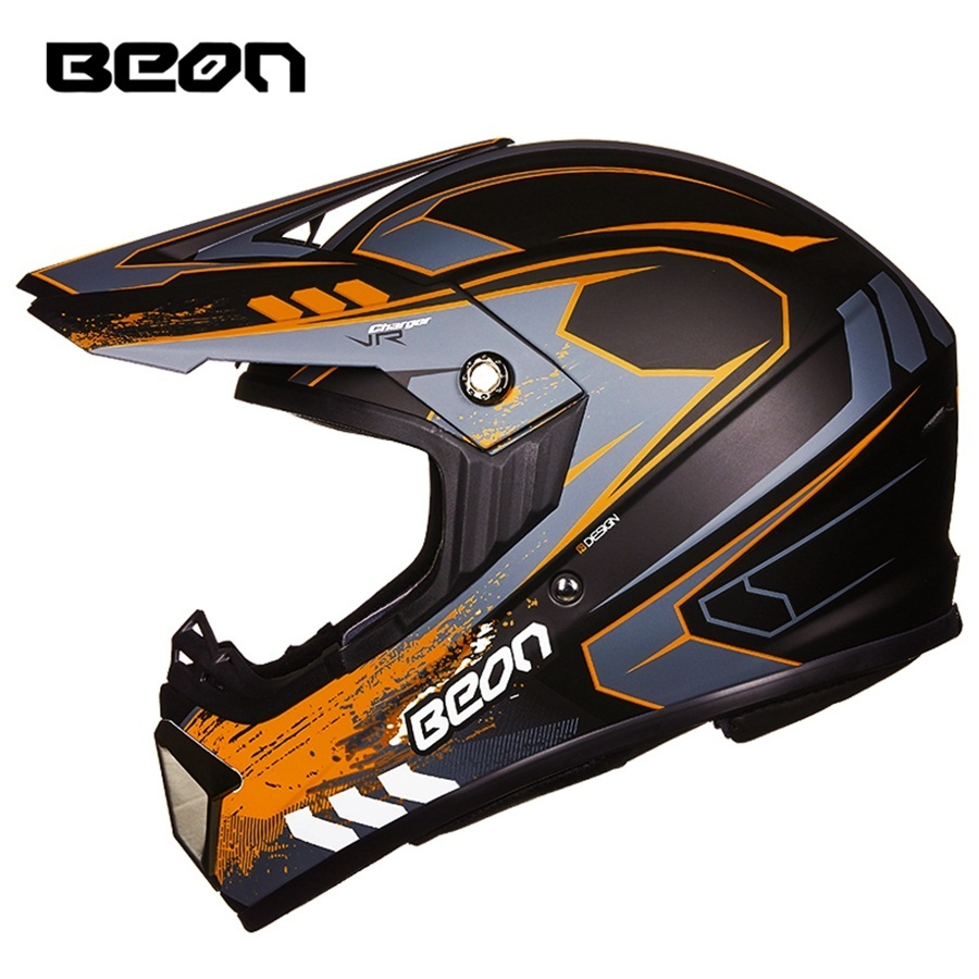 Free shipping 1pcs BEON Professional Off Road ATV ECE Moto Safety Helmet Downhill Motorbike Motocross ABS DOT Motorcycle Helmet free shipping 1pcs beon half helmet motorcycle popular harley style motorbike vintage helmets abs dot approved motorcycle helmet