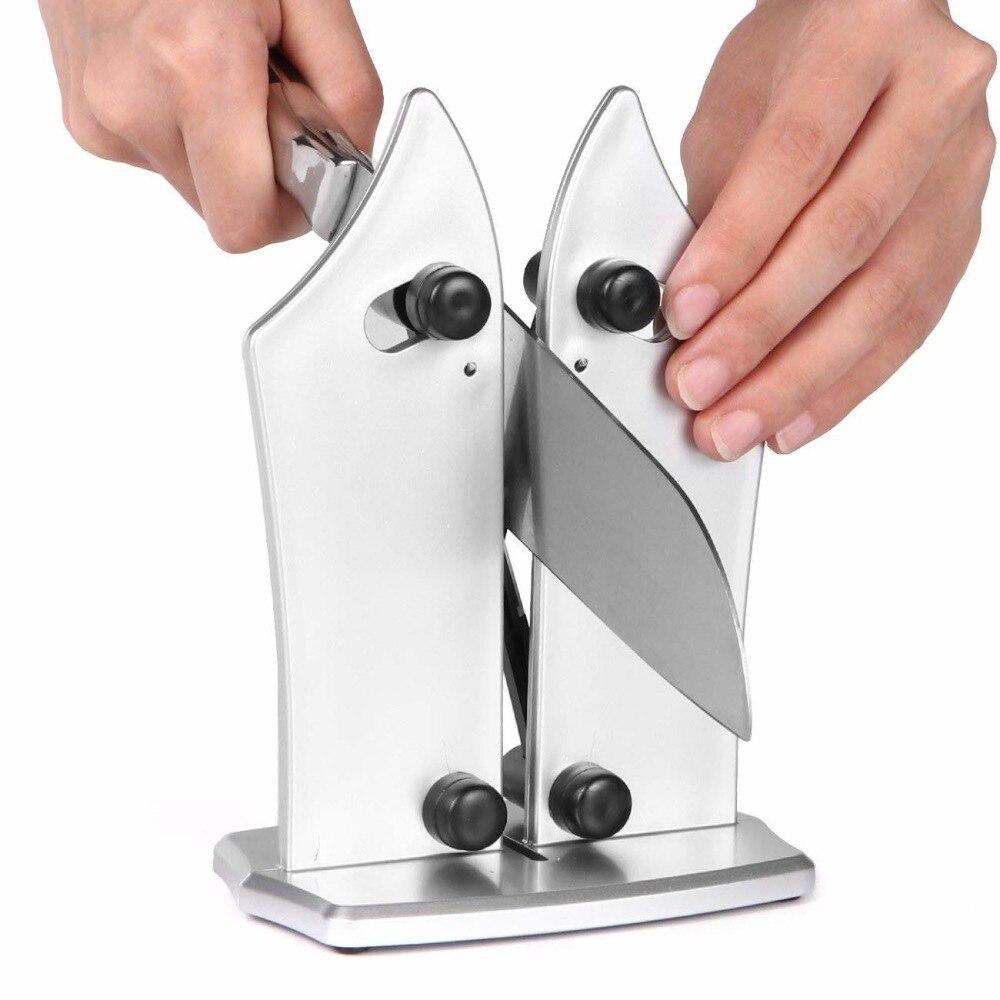 Bávaro borde afilador de cuchillos de cocina por cabeza de alfiler agudiza afila estándar de la hoja