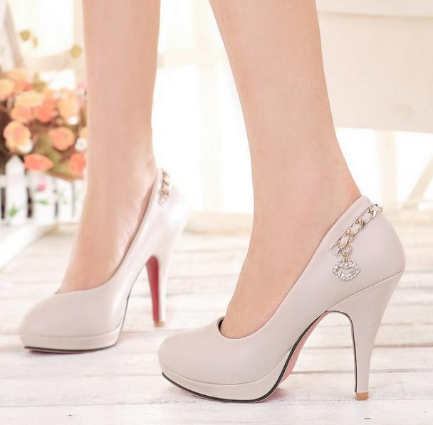 lady Women Patent Leather fashion MID high heels POINTED corset WORK PUMPS COURT SHOES EUR 35-43  952-1PA