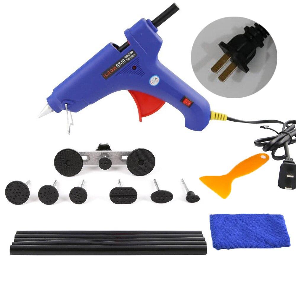 WHDZ PDR Tools Kit Dent Removal Paintless Dent Repair Tools with Glue Gun Dent Puller Kit Pulling Bridge Adhesive Hand Tool Set
