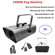 1500W Smoke Machine Wire Wireless Remote Control Fogger Machine For Wedding Dj Lighting Show Party Holiday Decorations Fogger все цены