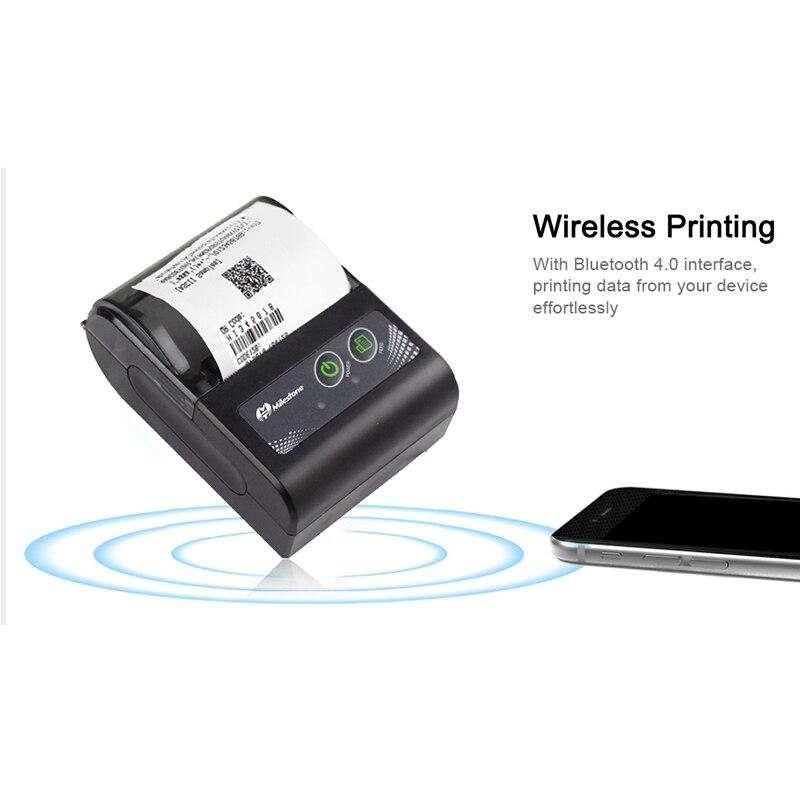 Hot Sale] Milestone Mini Bluetooth Printer Thermal Printer Pocket