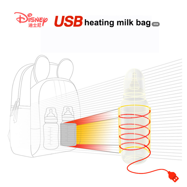 Disney Multi-function Bottle Feeding Insulation Bag With USB Mother Nappy Bags Baby Care Nappy Changing Bag 2