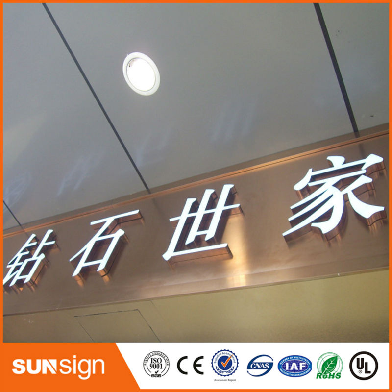 Epoxy Resin Full-face Channel Light LED Signs With Letters