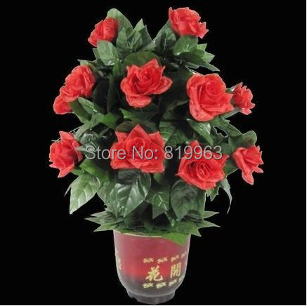 Remote-Control Blooming Flower Bush 20 Flowers -Magic Trick,Accessories,mentalism,stage magic props,close up,comedy light heavy box stage magic floating table close up illusions accessories mentalism magic trick gimmick
