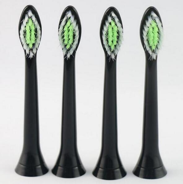 4pcs Black Best Electric Sonic Replacement Tooth Brush For Philips Sonicare Diamondclean Toothbrush Heads Soft Bristles HX6064