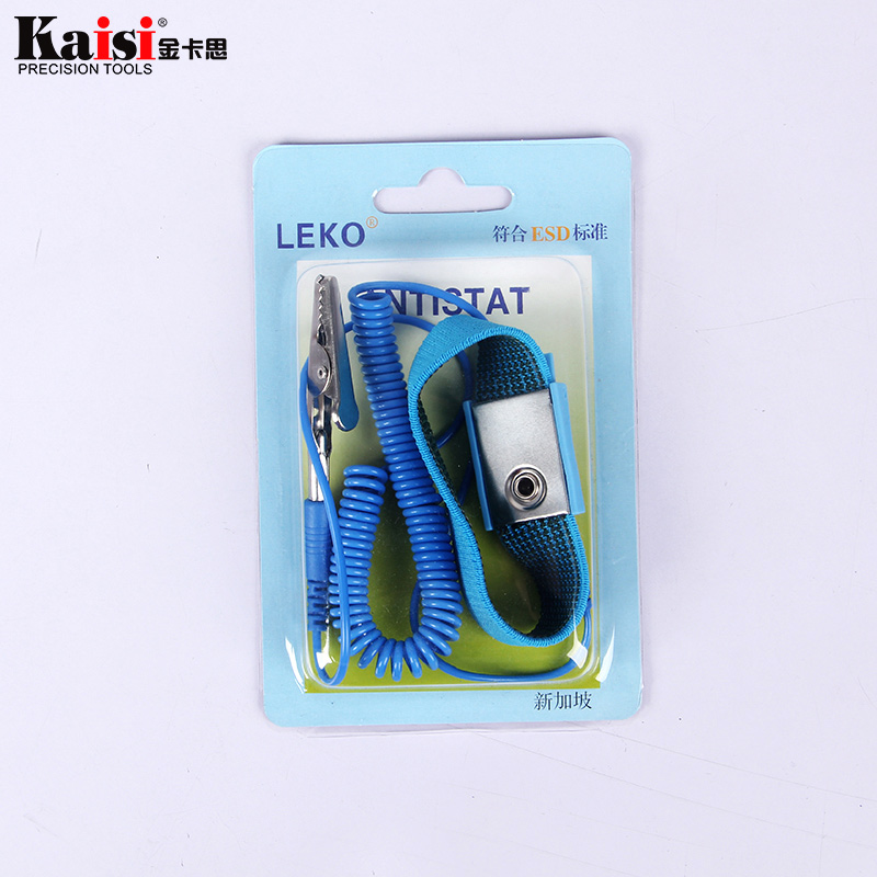 Adjustable Anti-static ESD Elastic Wristband With Clip For Sensitive Electronic Repair Work Tools